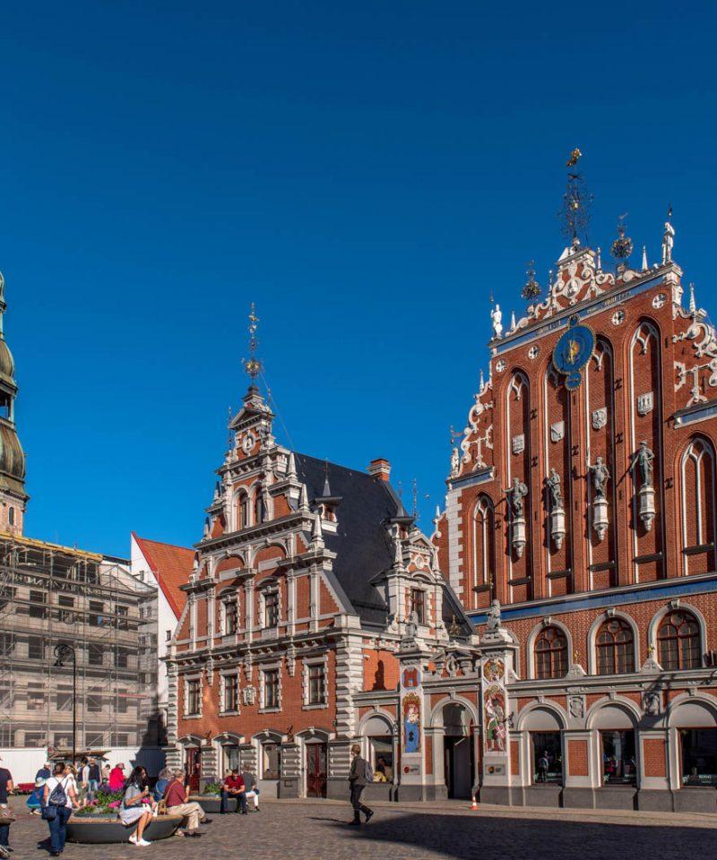 Riga old town of lithuania latvia